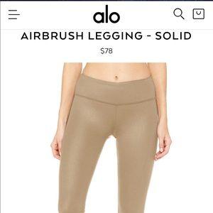 ALO AIRBRUSH LEGGING - SOLID Size MEDIUM